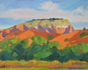 New Mexico landscape oil painting western art southwest impressionism small art
