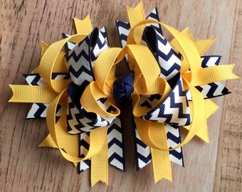 Girls Boutique Bow Layered Hair Clip Stacked Boutique Bow