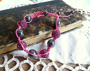 Shamballa tones pink fucshia / black