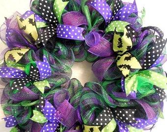 XMAS in JULY SALE-15%off Halloween Wreath, Halloween Wreaths, Halloween Decor, Halloween,  Halloween Wreath, Wreath, Wreaths, Fall Wreath, F