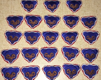 Lot of 23 Small Sized Chicago Cubs Bear Cub Patches