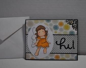 Hi Easel Handmade card