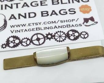 Vintage, Mother of Pearl, tie clip, mother of pearl tie clip, vintage tie clip, tie bar, tie slide, bridegroom, wedding, gent, goldtone