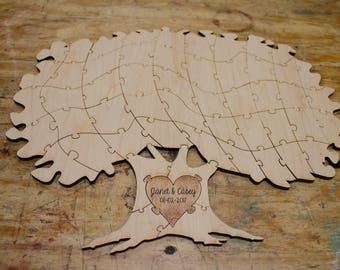 Tree Puzzle Guest Book Alternative 25pc | Wedding Guest Book | Tree Puzzle Gift | Unique Guest Book | Wedding Tree Guest Book