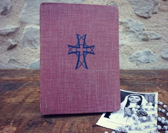 Book vintage religious - Missal for celebrate the Eucharist - Missal 1957