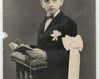 Photography old boy - 1950 - photography - fine art photography print - keepsake remembrance communion