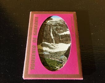 """Bag of 10 mini pictures/old postcards - """"Souvenir de Gavarnie"""" - colorized vintage photography"""
