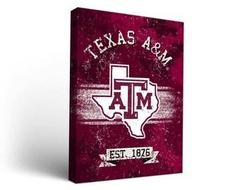 Texas A&M University Aggies Canvas Wall Art Designs