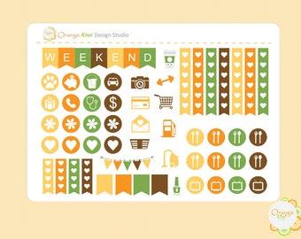 Sunflower Sampler Stickers, Sunflower Weekly Kit Planner Stickers, Erin Condren Life Planner