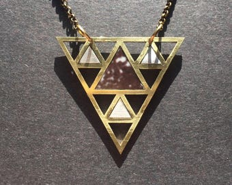 Triangles Galaxies - pendant necklace