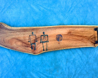 SOLD - Custom pictograph inlay using Lapis/Chrysocolla