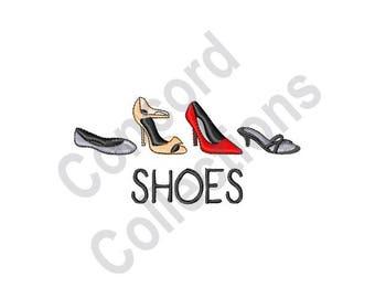 Shoes - Machine Embroidery Design, High Heels, Stilettos
