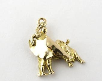 Christmas in July Sale Vintage 14K Yellow Gold Matador Bull Fighter Charm #592