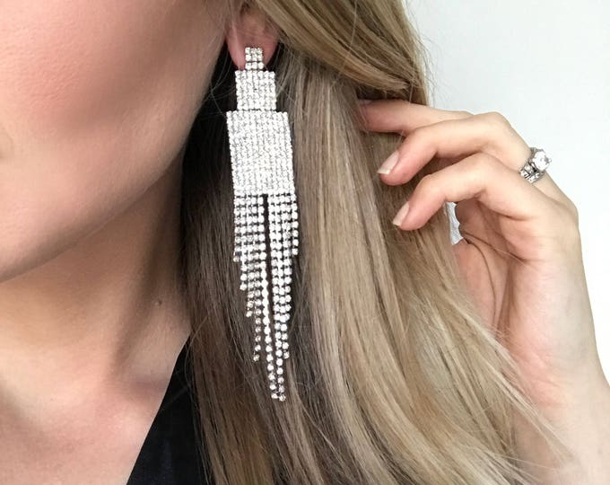 Cora Clear Crystal NPC Bikini Fitness Competition Earrings