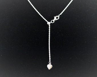 """20"""" Sterling Silver 1.4mm Adjustable Diamond-Cut Rope Chain Necklace"""