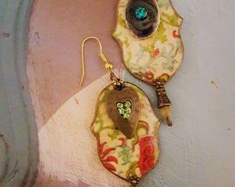 """""""Light"""" boho, ethnic earrings"""
