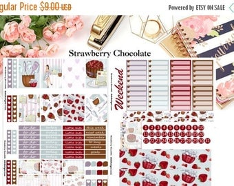 40% Off Sale Strawberry Chocolate, 4 page Kit//EC//HP//Choose your planner