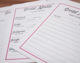 Social Media Planning Packet PRINTABLE