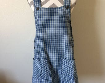 Vintage 90's blue plaid jumper