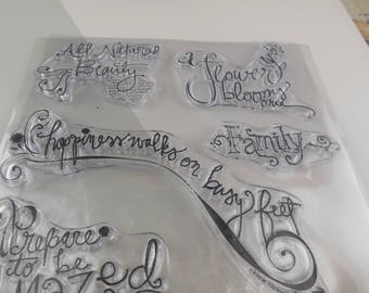 Sayings Clear Stamp Set