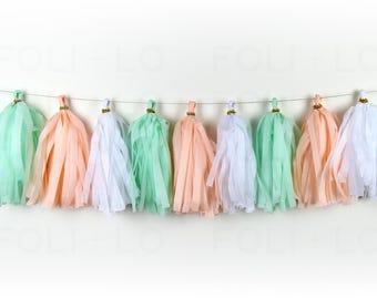 MERMAID'S SHELLS Tassel Garland | Party Garland | Baby Shower Garland | Gender Reveal Garland | Nursery Garland | Bachelorette Garland | 15