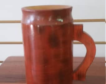 wooden beer stein . 24 oz.