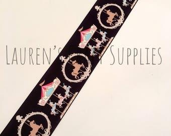 "Carousel Ribbon | Merry Go Round Ribbon | Horse Ribbon |  | Hair Bow Ribbon | US Designer Ribbon | 3"" Ribbon | Grosgrain Ribbon"