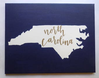North Carolina Canvas (8x10)