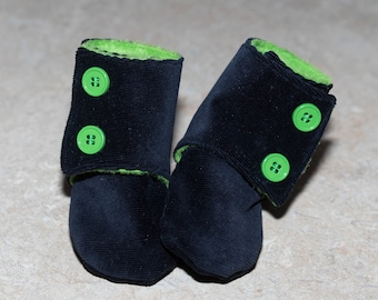Baby Shower, Slippers, Hook & Loop Fasteners, For Baby, Crib Shoes, Corduroy Boots, Baby Clothes, Stay on shoes, Soft Sole Shoes,Baby gift