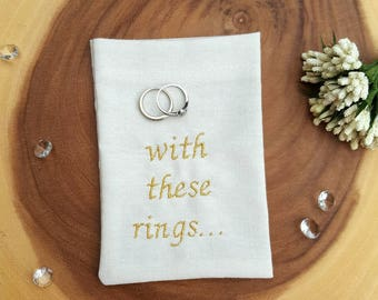 Wedding Ring Bag Ring Pillow Alternative Wedding Ring Box
