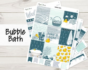 Bubble Bath Weekly Kit | Planner Stickers