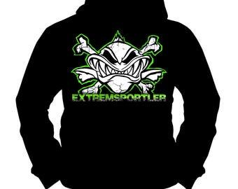 Extreme Athlete Green | Carp | Catfish | Fishing Fishing | Hoodie | S-XXL