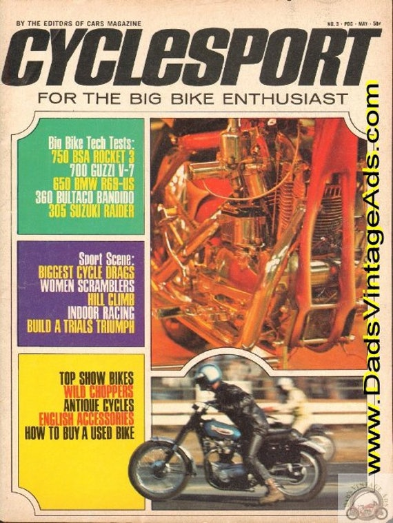 1969 May Cyclesport Motorcycle Magazine Back-Issue #6905cs