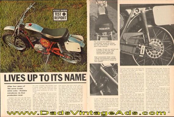 1970 Hodaka Super Rat 100 Road Test 5-Page Article #de70eb11