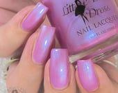 TULIP BLOSSOM -  purple pink pastel polish with iridescent glow