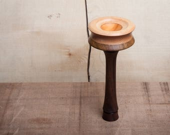 Spindle Bowl | Lap Bowl | Supported Spindle Bowl | Laburnum, Beech and Black Walnut