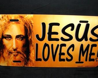 JESUS CHRIST Metal NOVELTY License Plate For Cars  Jesus loves Me