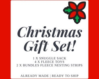 Christmas gift set. Christmas Bundle! Lucky Dip! Mystery Box! Snuggle sack and toys for hedgehogs and guinea pigs. Pet hamper.