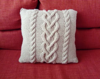 Knitted cushion Kit - make your Cushion cover in knitting yourself