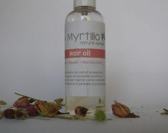 Hair Damage oil, Repair Oil, Organic Hair Oil Treatment, After Sun & Sea, Repairs split ends, Shiny Hair by Myrtillo cosmetics