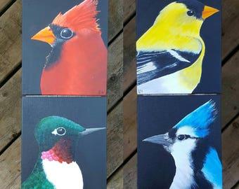 Canadian Bird Series # 1 acrylic on canvas