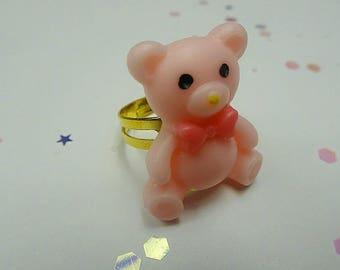 Pink Carnival Bear Ring