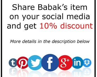 Discount code, coupon code, the best offer, special offer, Babak's offer