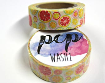 Washi Tape - Citrus Fruit Washi Tape - Lemon Washi - Paper Tape - Planner Washi Tape - Washi - Decorative Tape - Deco Paper Tape - Oranges