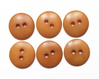 6 buttons beige caramel vegetable ivory tagua 14 mm