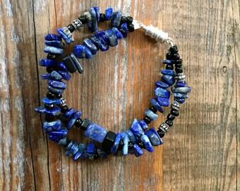 Lapis and Sodalite Bracelet