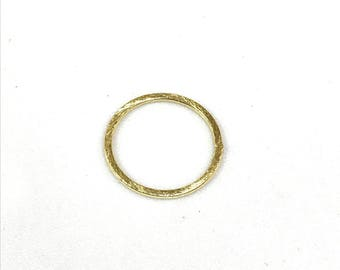 10 pcs of 25mm brushed texture open circle