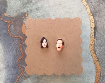 """April & Andy   """"Parks and Recreation"""" Stud Earrings"""