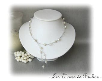 Wedding ivory and Crystal two row Marjorie collection 'Tradition' necklace