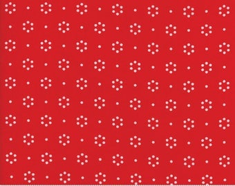 "Moda ""The Good Life"" by Bonnie and Camille ~ DOT ~ Red 55152 11  ~ Small Dots~ Half Yard Increments"